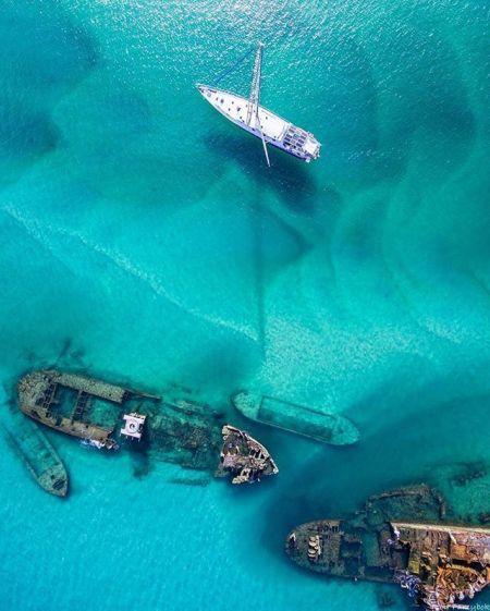 Ship wreck drone